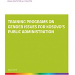 TRAINING PROGRAMS ON GENDER ISSUES FOR KOSOVO'S PUBLIC ADMINISTRATION